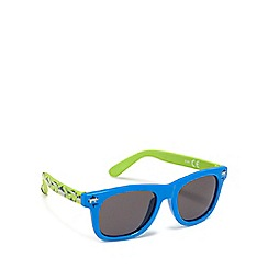 bluezoo - Boys' blue and green shark print square sunglasses
