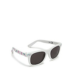 bluezoo - Girls' white unicorn print square sunglasses