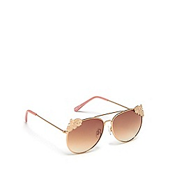 bluezoo - Girls' pink floral aviator sunglasses