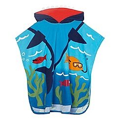 bluezoo - Boys' blue shark print swim poncho