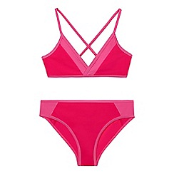 bluezoo - Girls' pink two piece bikini set