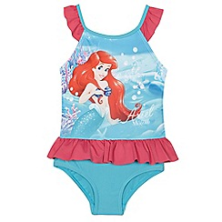 Disney Princess - Girls' red 'The Little Mermaid' frilled swimsuit