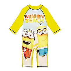 Despicable Me - Boys' yellow 'Minion' print sunsafe