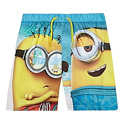 Despicable Me - Boys' multi-coloured 'Minions' swim shorts