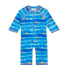 Baker by Ted Baker - Boys' blue submarine print sunsafe