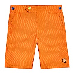 Baker by Ted Baker - Boys' orange geometric print board shorts