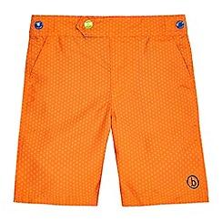 Baker by Ted Baker - Boys' orange geometric print board shorts