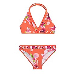 Baker by Ted Baker - Girls' pink floral print two piece bikini