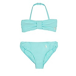 Baker by Ted Baker - Girls' aqua textured bikini