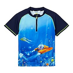 Baker by Ted Baker - Boys' blue underwater print rash vest