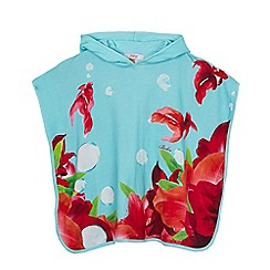 Baker by Ted Baker - Girls' light blue fish print poncho
