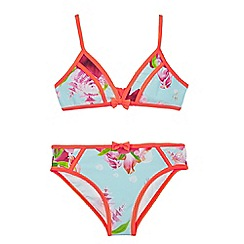 Baker by Ted Baker - Girls' blue floral print two-piece bikini