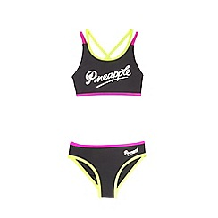 Pineapple - Girls' black tankini