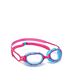 Zoggs - Clear, pink and blue predator junior goggles