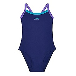 Zoggs - Girls' navy blue swimsuit