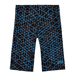 Zoggs - Boys' blue geometric print jammer