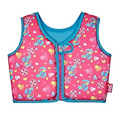 Zoggs - Girls' pink printed swim vest