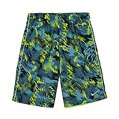 Nike - Boys' green 'Watercamo' 9' volley swim shorts