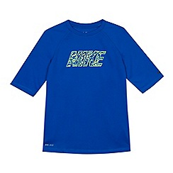 Nike - Boys' blue 'Watercamo' short sleeve rash top