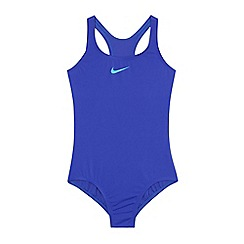 Nike - Blue 'Core Solid' racerback tank swimsuit