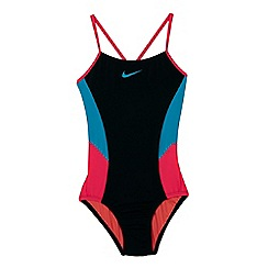Nike - Black 'Colour Surge' v-back tank swimsuit