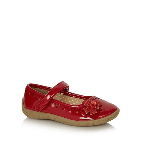 bluezoo - Girl+s red glitter flower shoes