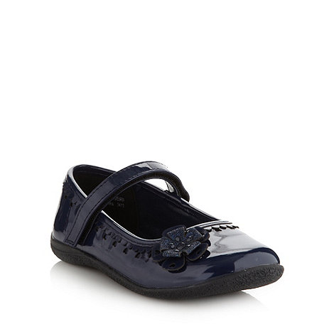 bluezoo - Girl+s navy glitter flower shoes