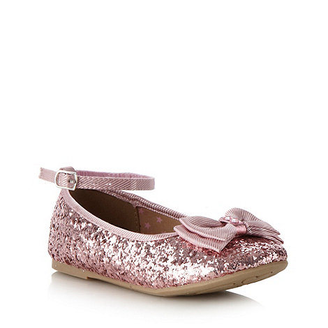 bluezoo - Girl+s pink glitter bow pumps