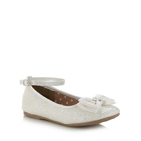 bluezoo - Girl+s cream glitter bow pumps