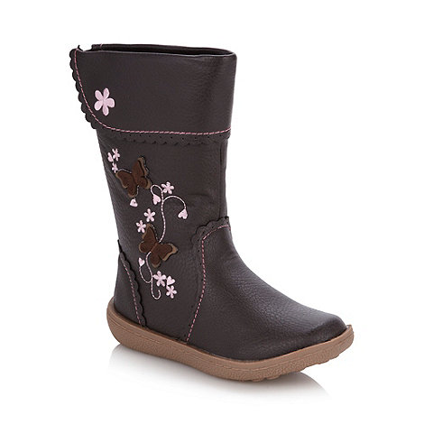 bluezoo - Girl+s dark brown applique boots