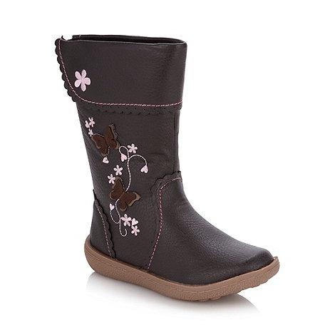 bluezoo - Girl+s dark brown applique boots