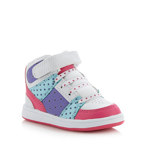 bluezoo - Girl's white rip tape fastened high top trainers