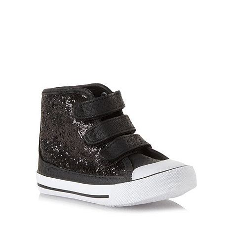 bluezoo - Girl+s black sequin boots