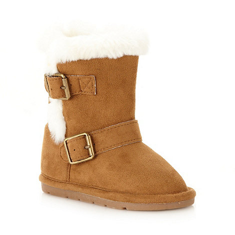 bluezoo - Girl's tan buckle boots