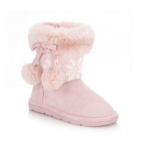 bluezoo - Girl+s pink fairisle boots