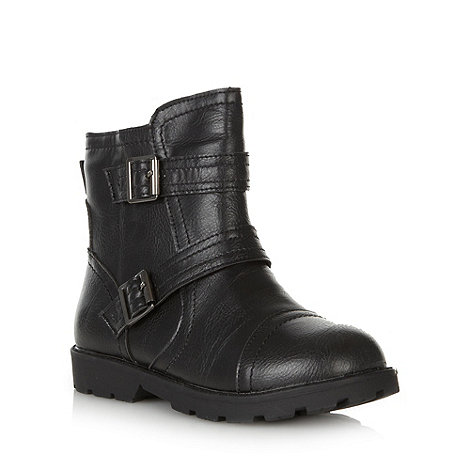 bluezoo - Boy+s black biker style boot