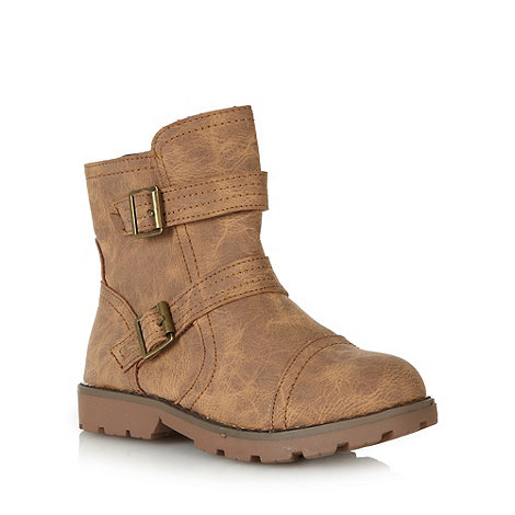 bluezoo - Boy+s brown biker style boots