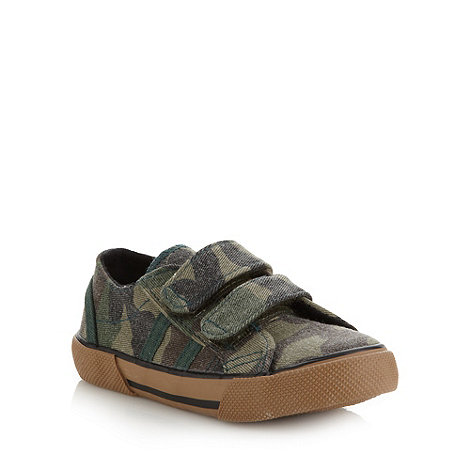 bluezoo - Boy+s khaki camo trainers