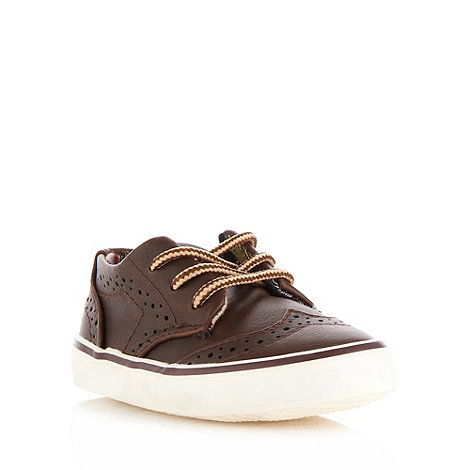 bluezoo - Boy+s dark brown brogue trainers