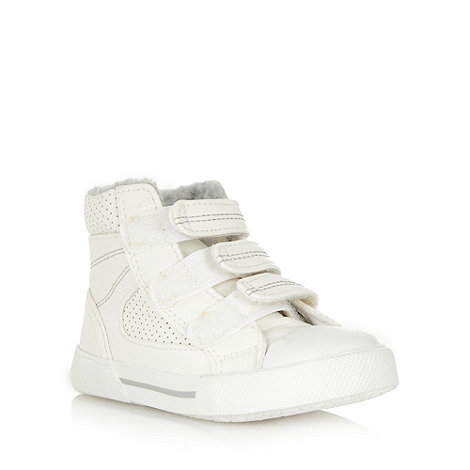 bluezoo - Boy+s white high top trainers