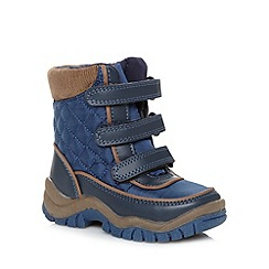 bluezoo - Boy's blue padded snow boots
