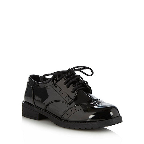 bluezoo - Girl+s black patent brogues
