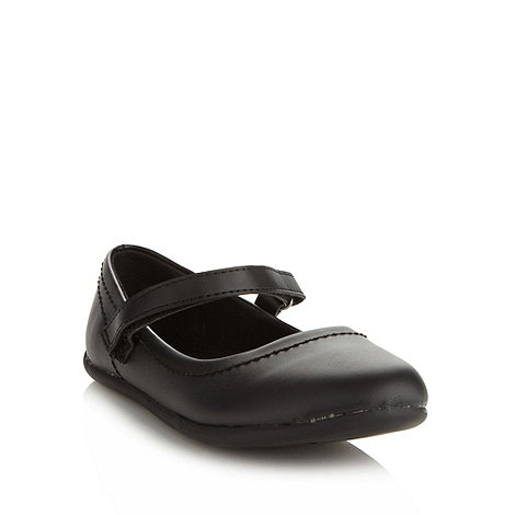 bluezoo - Girl+s black strap shoes