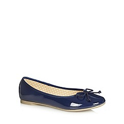 bluezoo - Girl's navy patent pumps