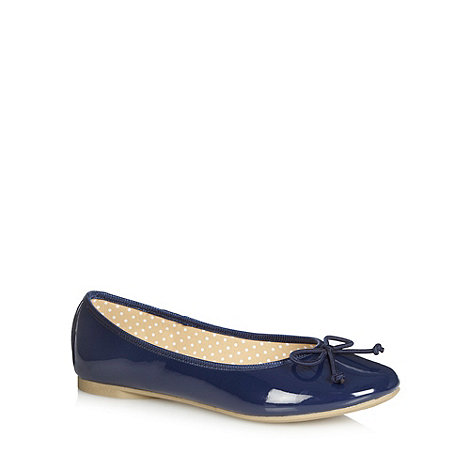 bluezoo - Girl+s navy patent pumps