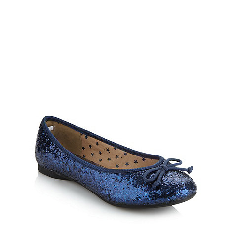 bluezoo - Girl+s navy glitter pumps