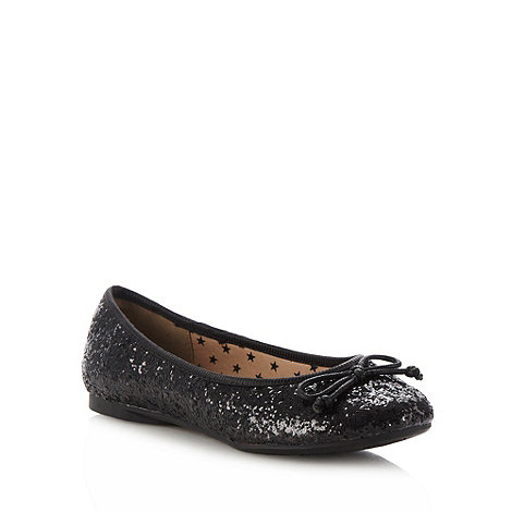 bluezoo - Girl's black glitter pumps