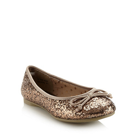 bluezoo - Girl's bronze glitter pumps