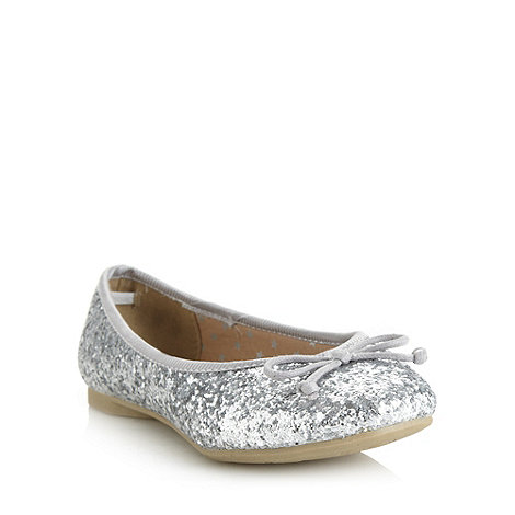 bluezoo - Girl+s silver glitter pumps