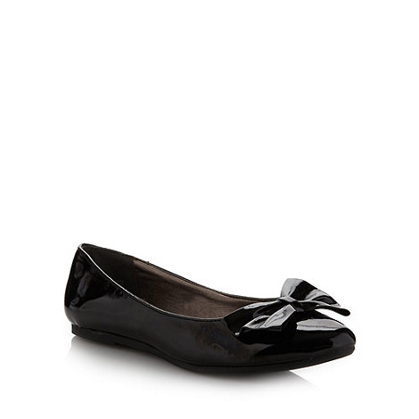 bluezoo - Girl+s black almond toe bow pumps